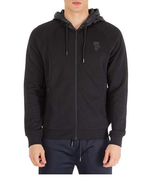 Zip-up sweatshirt Karl Lagerfeld k/ikonik 705015592910 nero