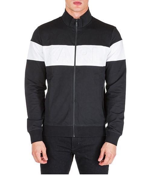 Sweatshirt mit Zip Karl Lagerfeld 705024592902 nero