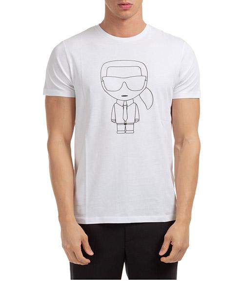 T-shirt Karl Lagerfeld ikonik 755040502224 bianco