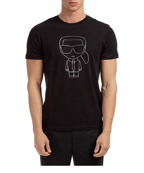 T-shirt Karl Lagerfeld ikonik 755040502224 nero