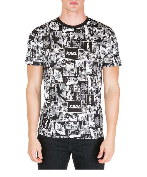 T-shirt Karl Lagerfeld 755043592220 nero
