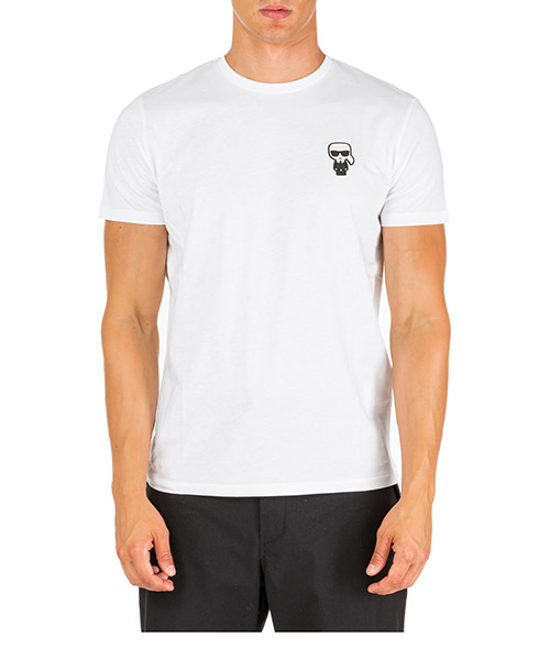 T-shirt Karl Lagerfeld k/ikonik 755045592223 bianco