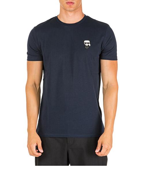T-shirt Karl Lagerfeld k/ikonik 755045592223 blu