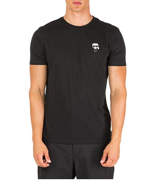 T-shirt Karl Lagerfeld k/ikonik 755045592223 nero
