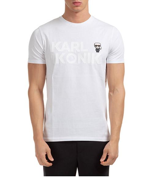 T-shirt Karl Lagerfeld ikonik 755046502225 bianco