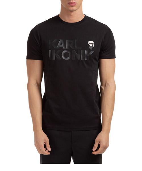 T-shirt Karl Lagerfeld ikonik 755046502225 nero