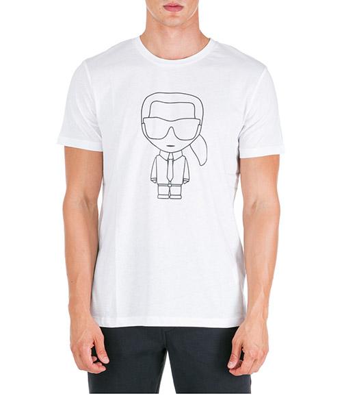 T-shirt Karl Lagerfeld 755046592220 bianco