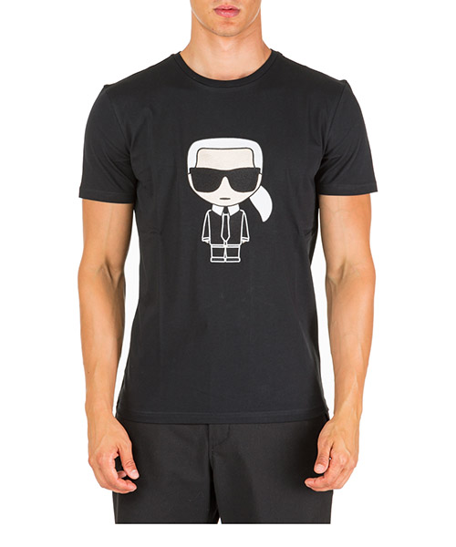 T-shirt Karl Lagerfeld k/ikonik 755060592250 nero