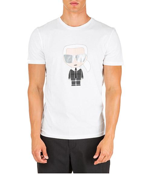 T-shirt Karl Lagerfeld k/ikonik 755061592251 bianco