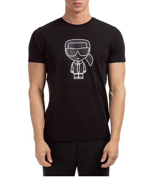 T-shirt Karl Lagerfeld k/ikonik 755080502224 nero