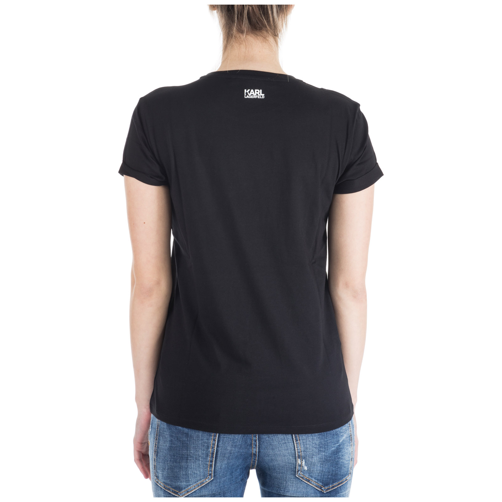 Women's t-shirt short sleeve crew neck round ikonik