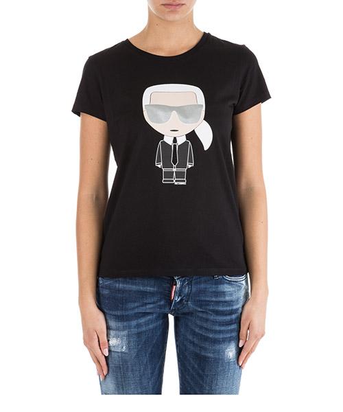 T-shirt Karl Lagerfeld Ikonik 76KW1726 nero