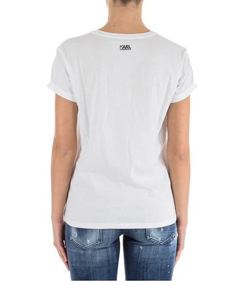 Camiseta de mujer de cuello redondo con mangas cortas ikonik secondary image