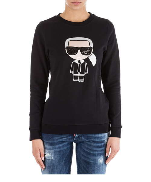 Sweat Karl Lagerfeld Ikonik 76KW1739 nero