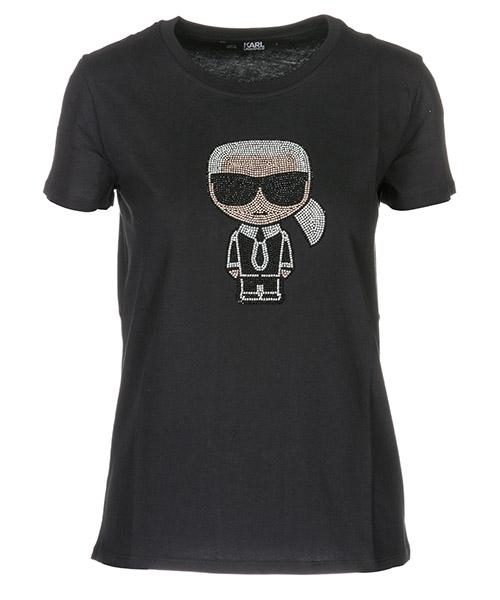 T-shirt Karl Lagerfeld Ikonik 91KW1739 nero