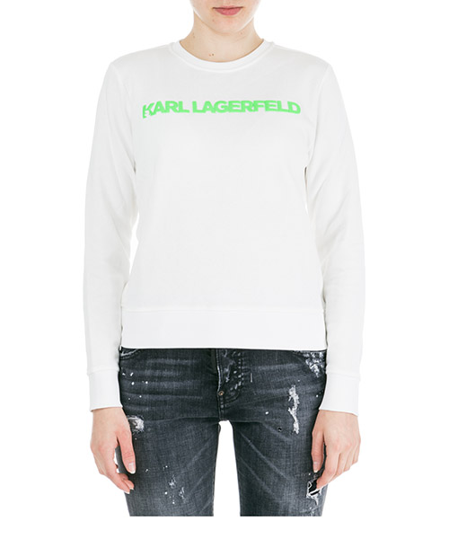Sweatshirt Karl Lagerfeld Neon lights 91KW1749 bianco
