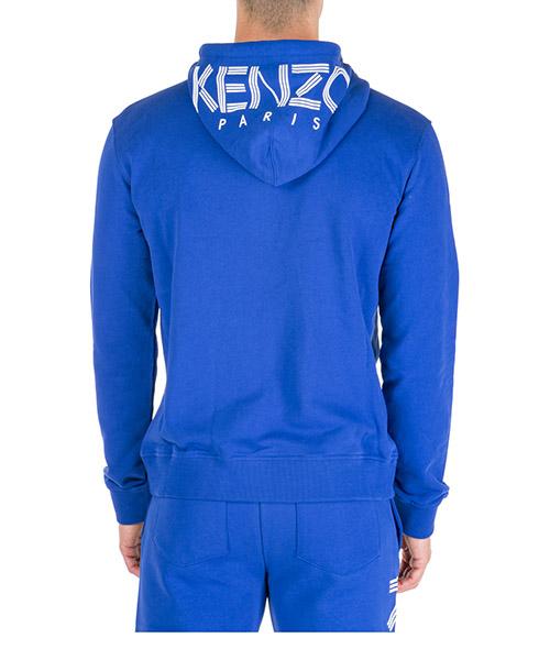 Sweat à capuche Kenzo logo f665bl7224md74 blu