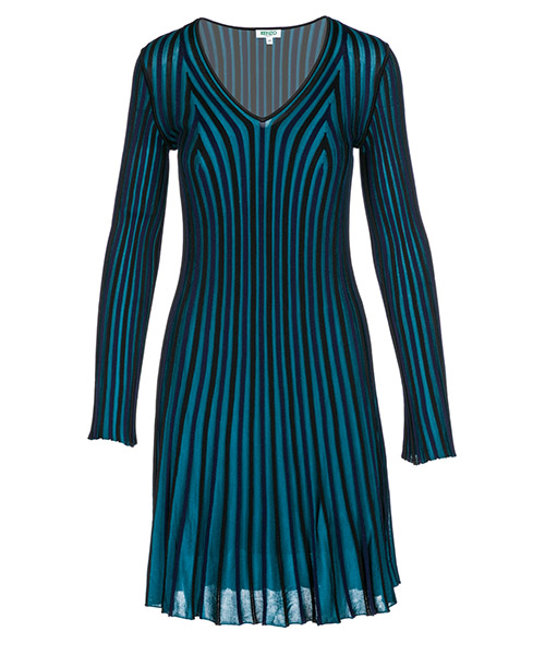 Knee length dress Kenzo F862RO681806.99.L blu