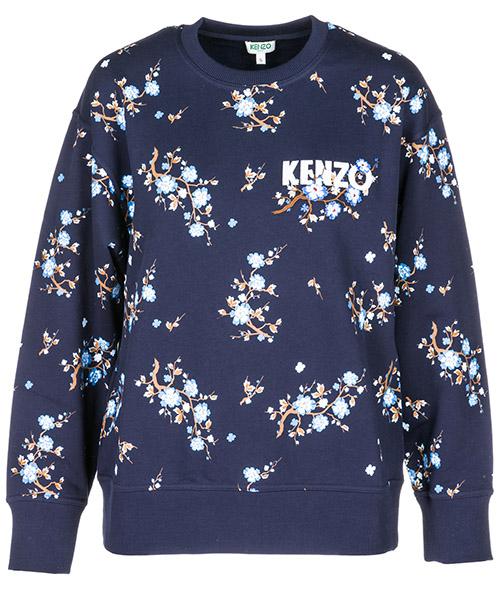 Sweatshirt Kenzo Cheongsam Flower F862SW747952.78.M blu