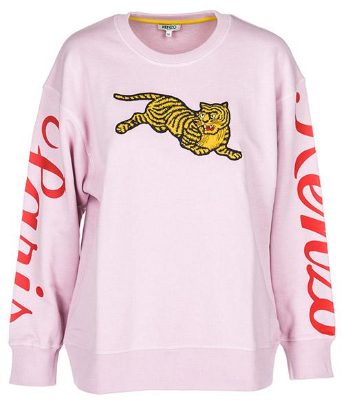 Women's sweatshirt jumping tiger