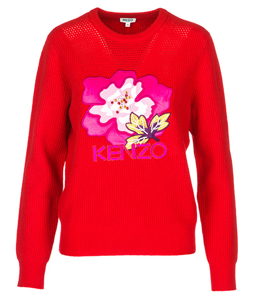 Pullover Kenzo Indonesian flower F862TO521850.21.XS rosso