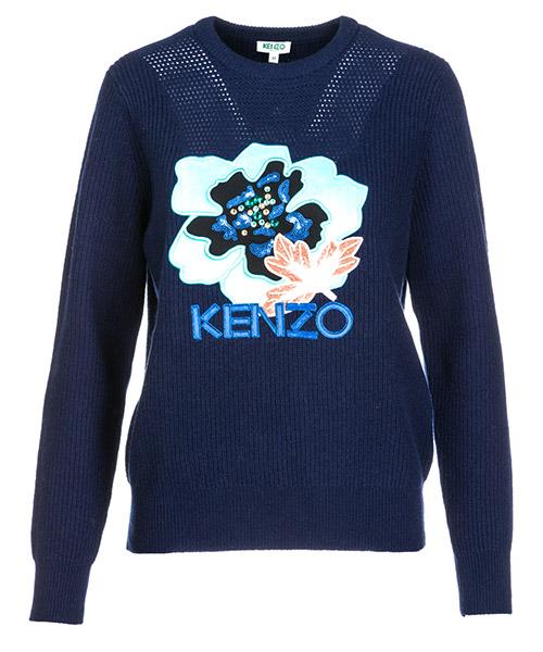 Jumper Kenzo Indonesian flower F862TO521850.76.S blu