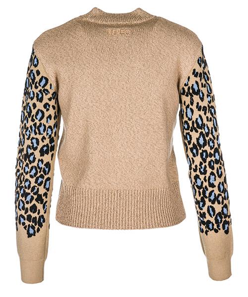 Women's jumper sweater crew neck round leopard secondary image