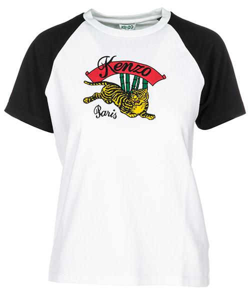 T-shirt Kenzo BambooTiger F862TS7554YL 01 white