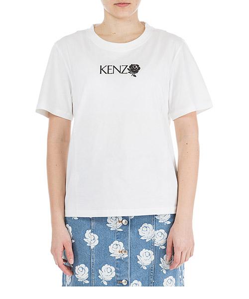T-shirt Kenzo Roses F952TS786987.01.L bianco