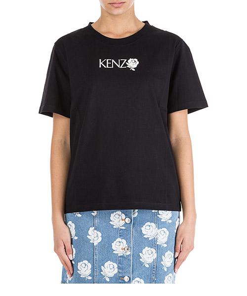T-shirt Kenzo Roses F952TS786987 nero