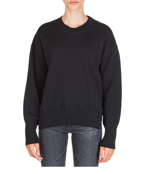 Pull ras du cou col rond chandail femme secondary image