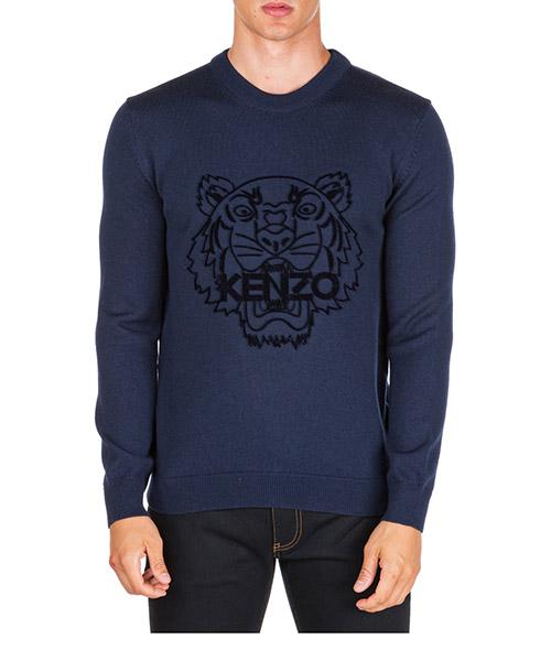 Suéter Kenzo tiger f965pu2133xb.76 blu