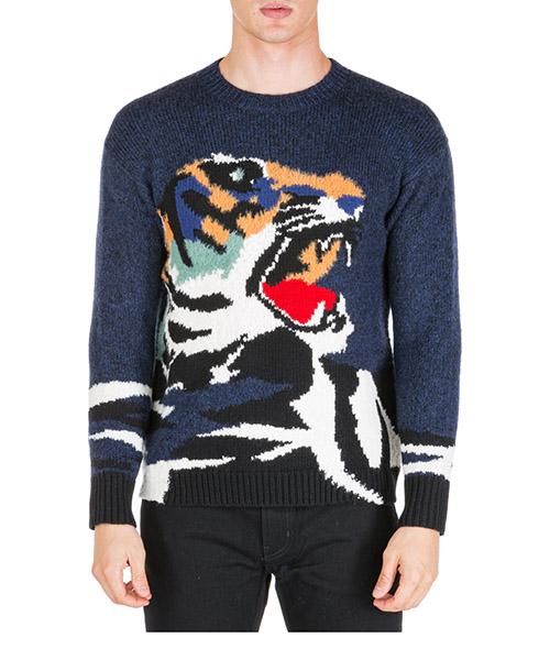 Pullover Kenzo tiger f965pu2263xa76 blu