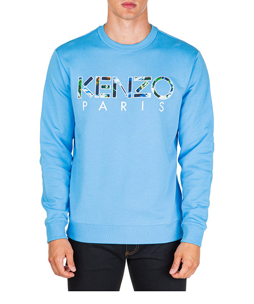 Felpa Kenzo kenzo world f965sw0004md.69 azzurro