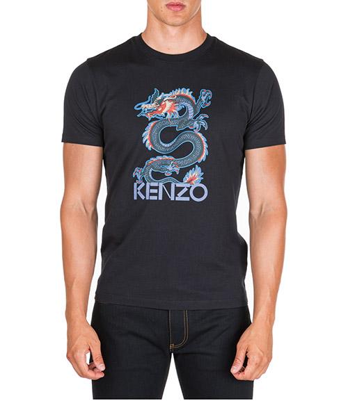 Camiseta Kenzo dragon f965ts0224sg.99 nero