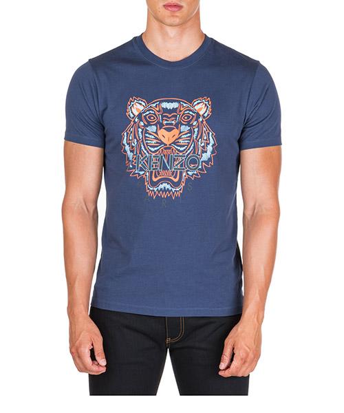 T-shirt Kenzo Tiger F965TS0504YA.78 blu