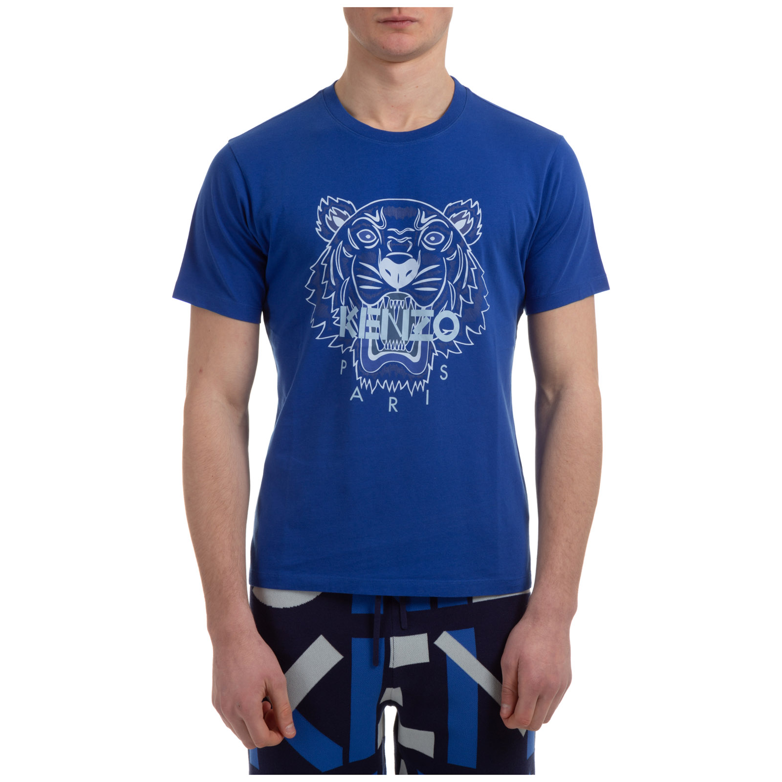 Kenzo MEN'S SHORT SLEEVE T-SHIRT CREW NECKLINE JUMPER TIGER