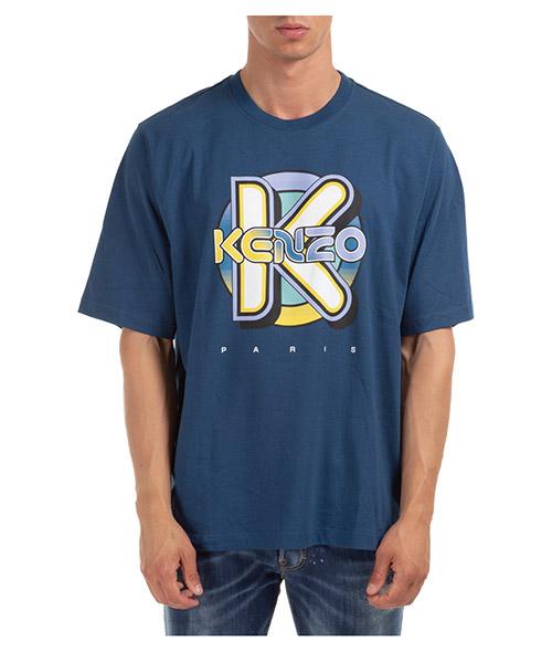 T-shirt Kenzo tiger K42P2055TS5054SH.73 blu