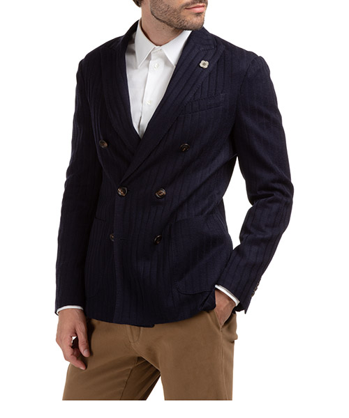 Men's double breasted jacket blazer  liknit secondary image