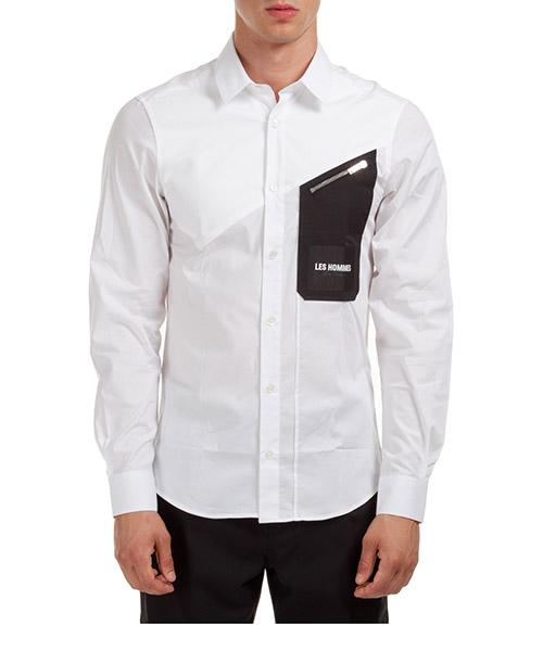 Camisa Les Hommes LJS406403I1009 bianco