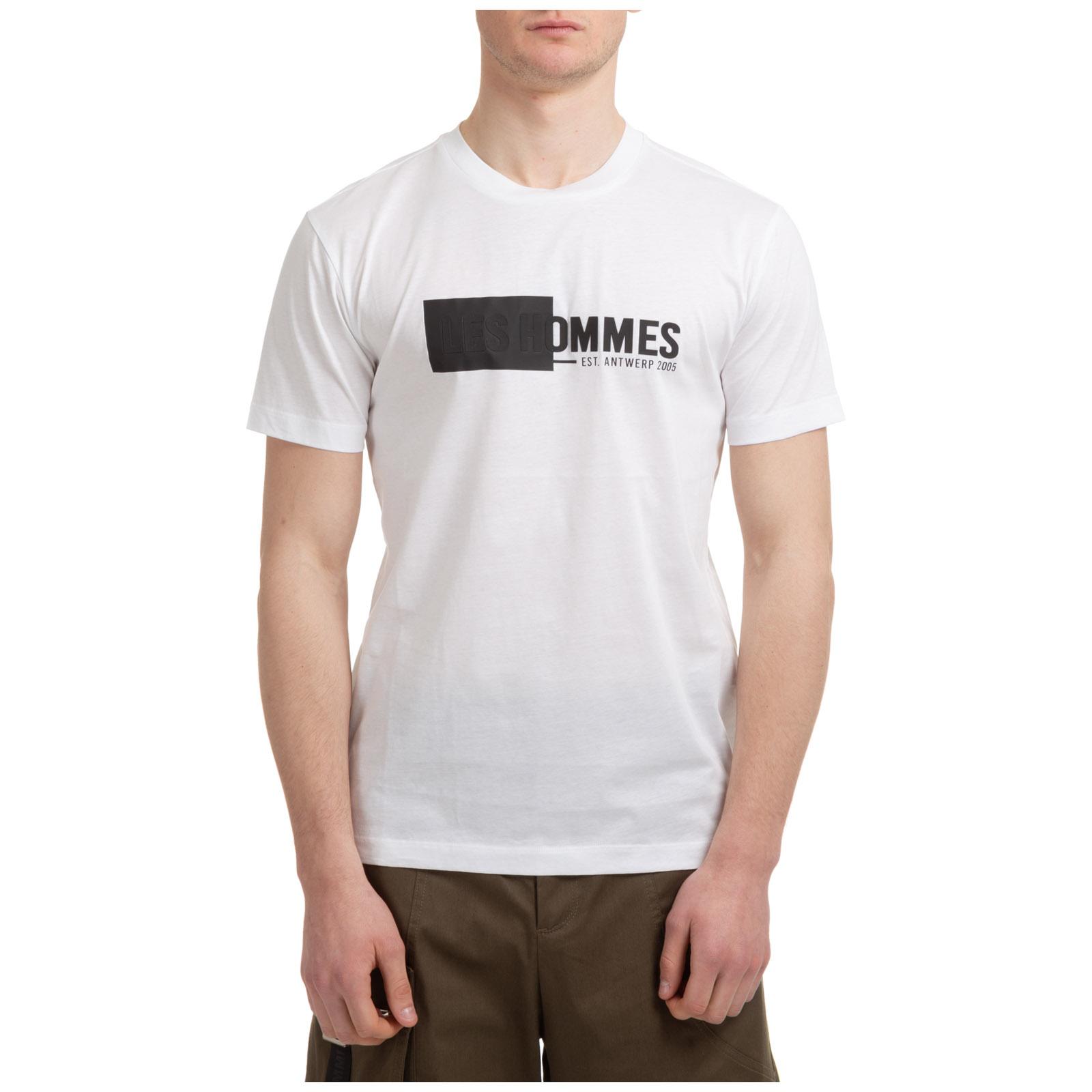 Les Hommes Cottons MEN'S SHORT SLEEVE T-SHIRT CREW NECKLINE JUMPER