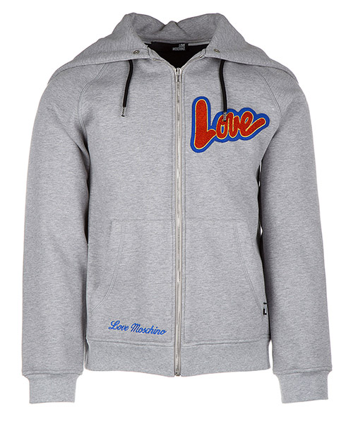 Sweat à capuche Love Moschino M 3 113 01 M 3677 B5 grigio