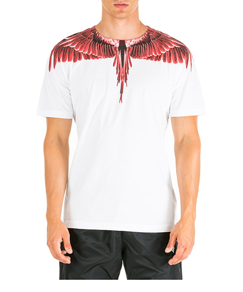 T-shirt Marcelo Burlon Ghost wings CMAA018E190010030188 bianco