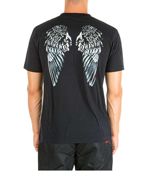 T-shirt Marcelo Burlon Heart Wings CMAA018E190010061001 nero