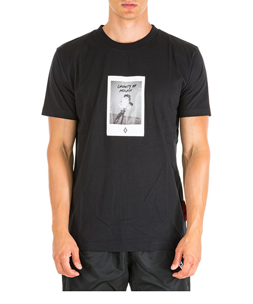 T-shirt Marcelo Burlon Rose Square CMAA018E190010271088 nero