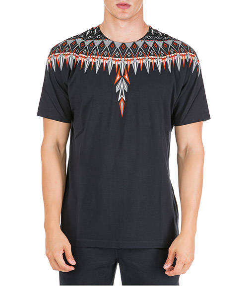 T-shirt Marcelo Burlon Norwegian wings CMAA018F190010041088 nero