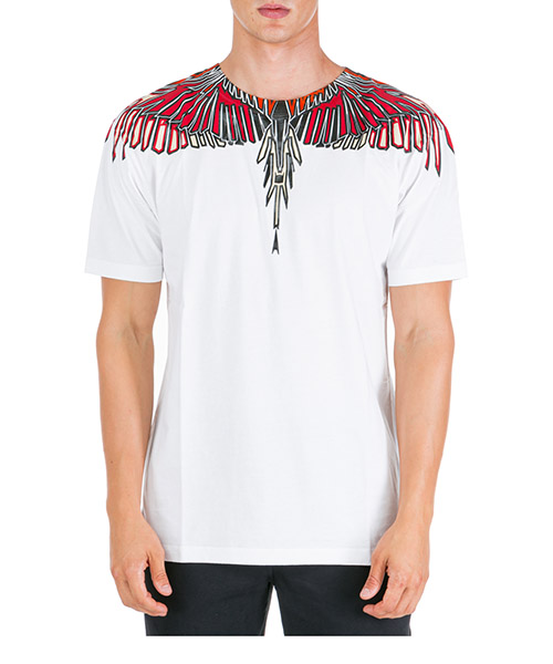 T-shirt Marcelo Burlon Geometric wings CMAA018F190010050188 bianco