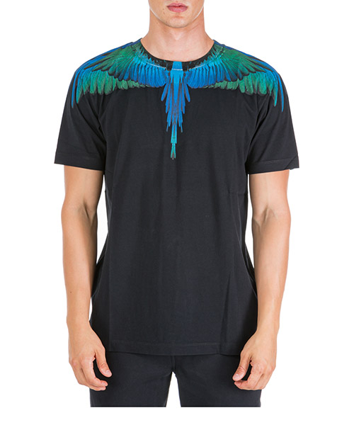 T-shirt Marcelo Burlon Wings CMAA018F190010061088 nero