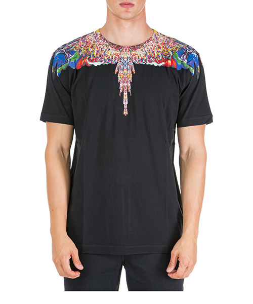 T-shirt Marcelo Burlon Multicolor wings CMAA018F190010221088 nero