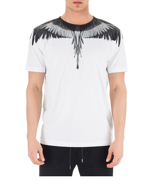 Футболка Marcelo Burlon Wings CMAA018R190010180191 bianco